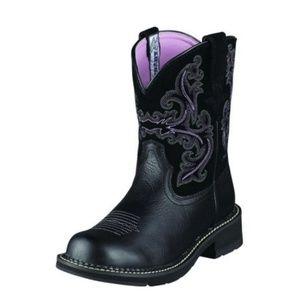 Ariat Fatbaby II Western Boot Black Purple Green